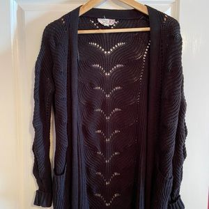 Pink Republic black knit cardigan